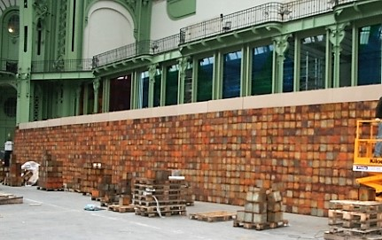 Montage exposition Monumenta C. Boltanski, Paris 2010