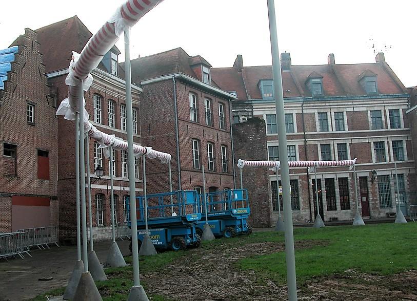 installation, oeuvre D.BURREN, Lille
